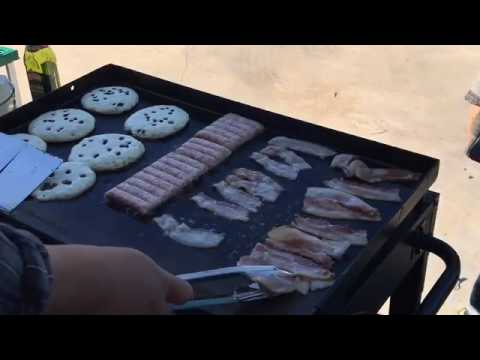 ♨️ BlackStone Griddle Menu:  Breakfast Edition - Pancakes with Bacon and Sausage