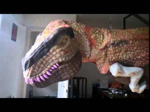 dinosaur costume puppet on progress