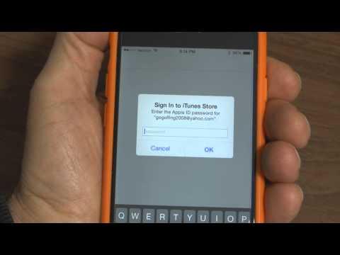 I Phone 6 Change Apple ID & Password