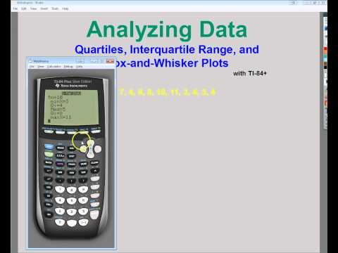 Data Analysis -   Quartiles, Interquartile Range, and Box-and-Whisker Plots with TI 84+
