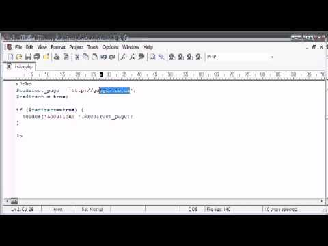 Beginner PHP Tutorial  63 - Using the Header to Force Page Redirect