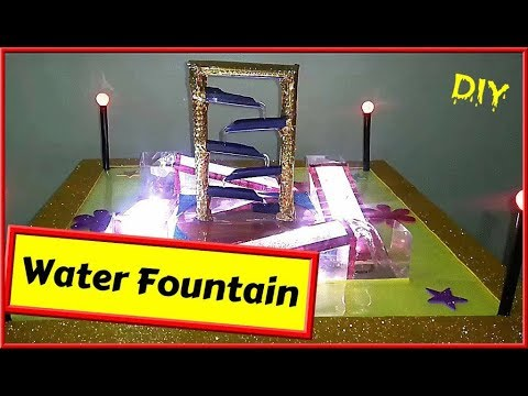 DIY | How To Make Tabletop Water Fountain Showpiece From Cardboard at Home