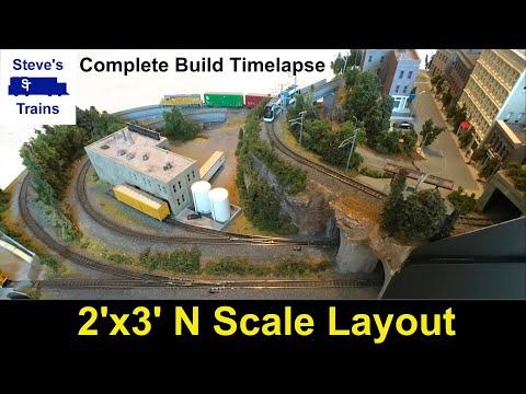 A small N gauge model railway layout - Janet's Reward by