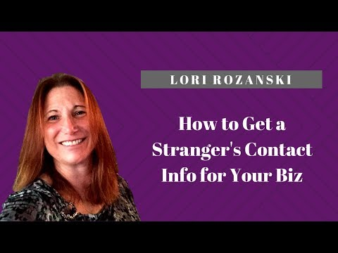 How to Get A Stranger's Contact Info for Your Business