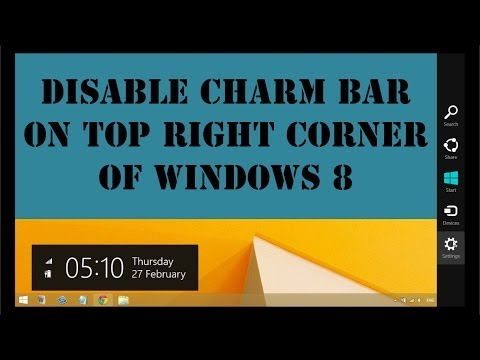 Disable or Remove Charm Bar on Windows 8 (Partially)