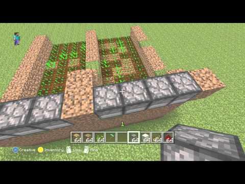 Minecraft Xbox 360 - Automatic Wheat Farm Tutorial