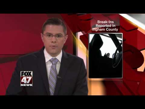 Car break-ins reported in Ingham County