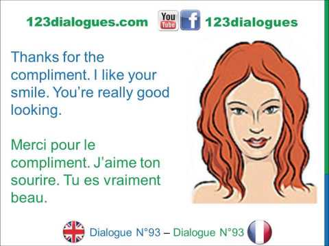Dialogue 93 - English French Anglais Français - Ask someone out on a date - Inviter quelqu'un