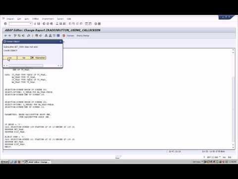 SAP ABAP Classical Report Using Radio buttons and call screen