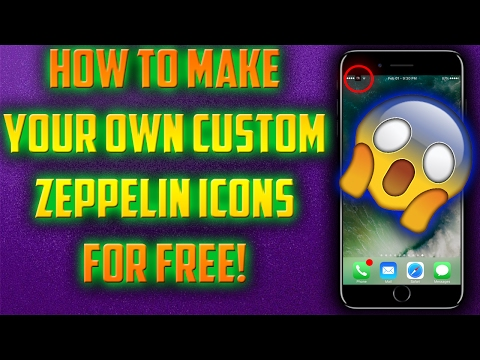HOW TO MAKE YOUR OWN CUSTOM ZEPPELIN LOGOS FOR FREE ON iPHONE, iPAD, iPOD! (NO COMPUTER)