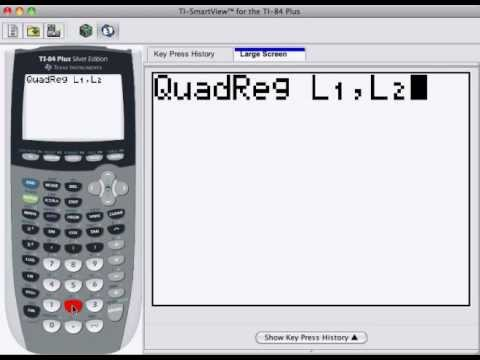 Quadratic Model using TI calculator