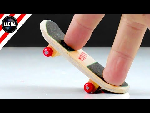 HOMEMADE FINGERBOARD!? How To Make a Finger Skate/Tech Deck