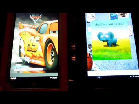 Nook Tablet (left) Nook Color (right) with Google Play Market