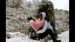 """OUR FIRST """"REAL"""" SNOW DAY TOGETHER   VLOGMAS DAY 8"""