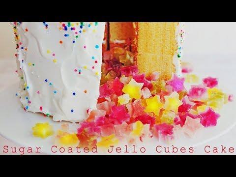 【BGM】食べれる宝石 琥珀糖が飛び出す!ケーキの作り方 ~ How to Make Kohakuto【料理レシピはParty Kitchen🎉】