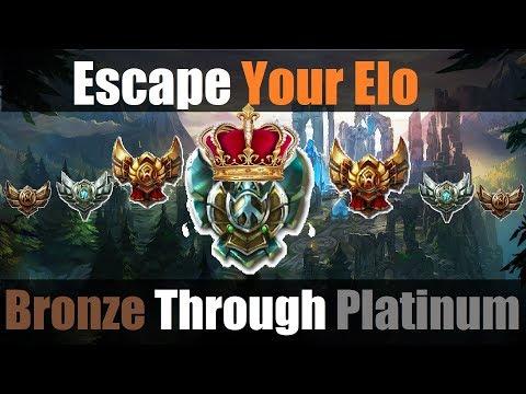 How To Escape Your Elo (Bronze To Platinum) | League Of Legends