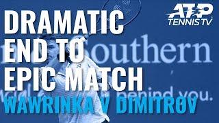 Dramatic End to EPIC Wawrinka v Dimitrov Match 😱 | Cincinnati 2019
