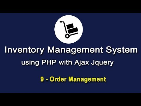 Inventory System using PHP with Ajax JQuery - Order Management - 1