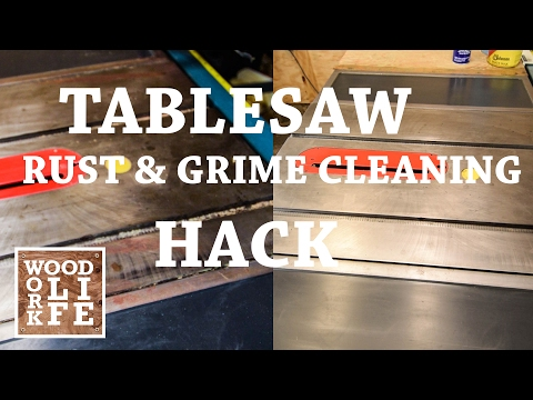 How Do You Clean a Rusty Table Saw Top? | Shop Tips