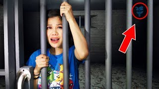 HACKER TRAPPED ME in ABANDONED PRISON (24 Hours Overnight Escape Room Challenge at 3AM)