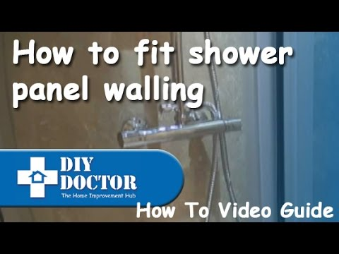 Fitting shower panel boards