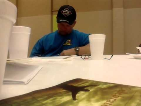 Guy falling asleep at an AA meeting