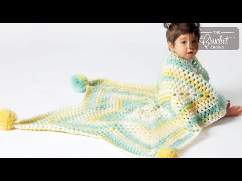 How to Crochet A Star Baby Blanket: Star Cluster