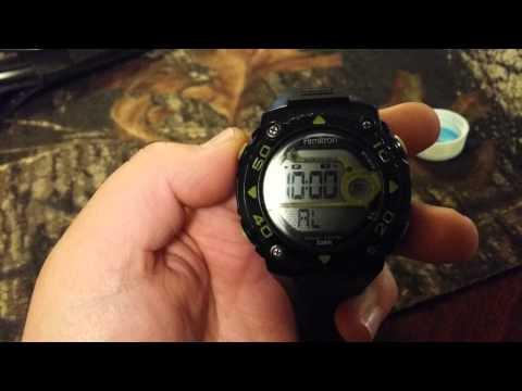 How to set alarm on armitron all sport watch