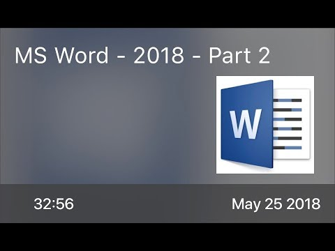SCOM0737 - MS Word - 2018 - Part 2 - Preview