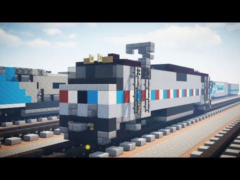Minecraft Amtrak GE E60 Phase III Locomotive Tutorial