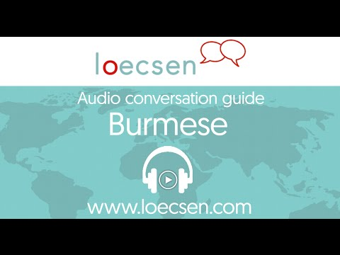 Audio Burmese Courses: 400 basic words and useful phrases for your trip