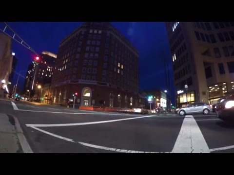 TIME LAPSE OF DOWNTOWN NEW HAVEN,CT