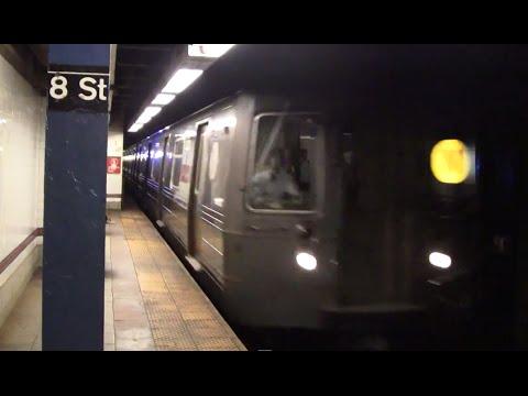 ᴴᴰ R68A N Train Arriving at 8th Street - NYU