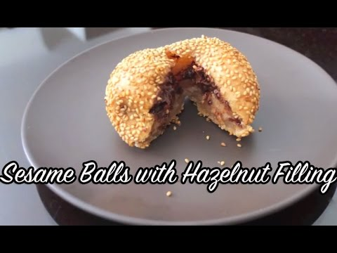 Sesame Balls with Chocolate Hazelnut Filling