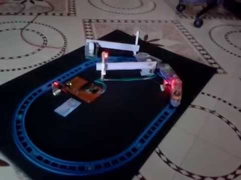 Automatic railway gate control project for science exhibition