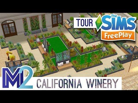 Sims FreePlay - California Art Gallery & Winery (Original Design)