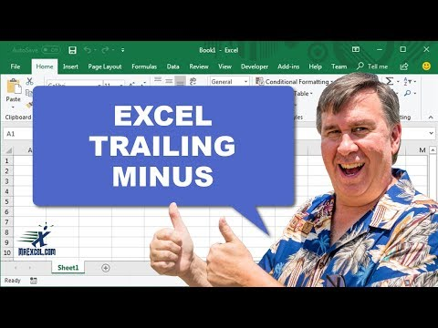 Learn Excel - Some Trailing Minus Numbers - Podcast 2201