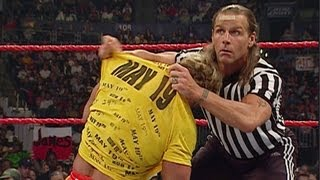 Shawn Michaels instigates as the referee during Kane vs.