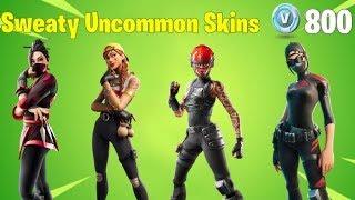 Most TRYHARD Uncommon Skins in Fortnite (Sweaty Fortnite Skins)
