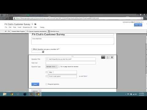 2.3 Google Forms 2013 Create Multiple Choice Question