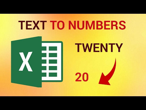 How to Convert Text to Numbers in Excel 2016