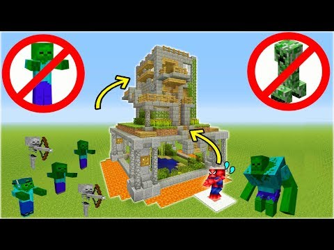 Minecraft Tutorial: How To Make A Safe House