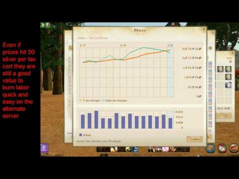 Tax Certificate massive drop in value coming soon Archeage