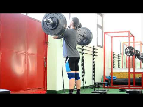 Clean and jerk 115kg x2, Clean pull 145kg x3