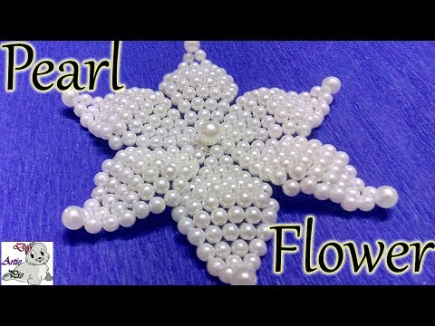 #25 How to Make Pearl Beaded Flower || Diy || Jewellery Making