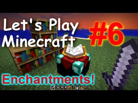 Let's Play Minecraft Survival (Part 6) - Enchantment Table