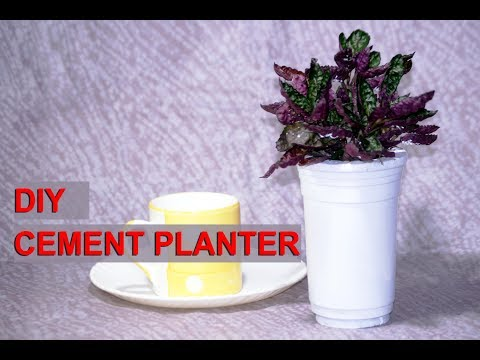 DIY - How to make Cement Planter