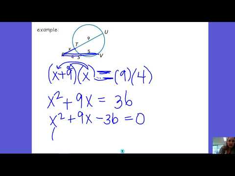 10.7 Secant-Secant example with factoring
