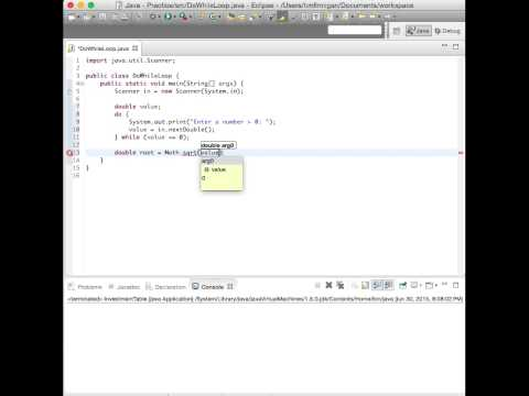 Do...While Loop for Input Validation (Java)