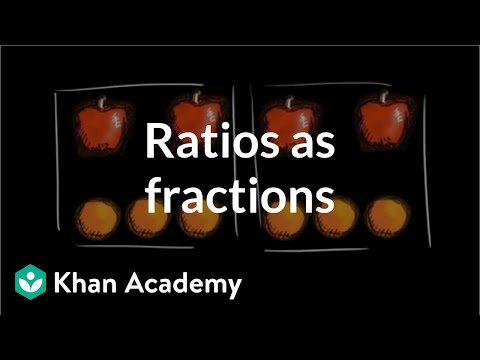 Ratios as fractions | Ratios, rates, and percentages | 6th grade | Khan Academy